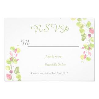 Tarjeta de contestación floral de RSVP de la