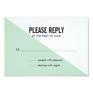 Tarjeta de contestación moderna retra del boda del invitación 8,9 x 12,7 cm