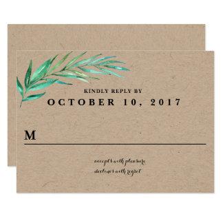 Tarjeta de contestación rústica del boda del invitación 8,9 x 12,7 cm