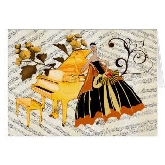 tarjeta de correspondencia piano