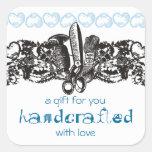tarjeta de costura del cordón del gótico del borda pegatinas cuadradas personalizadas