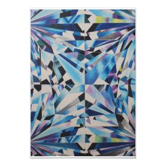 Tarjeta de cristal del diamante