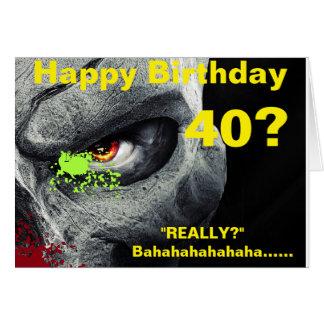 Tarjeta de cumpleaños 40.a