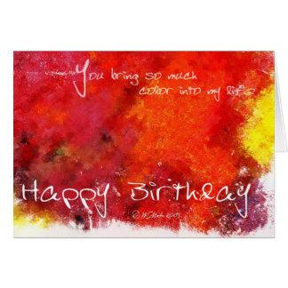 Tarjeta de cumpleaños abstracta de la pintura