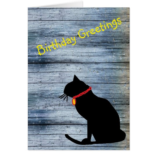 Tarjeta de cumpleaños abstracta fresca del gato