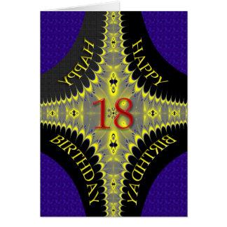 Tarjeta de cumpleaños abstracta para los 18 años