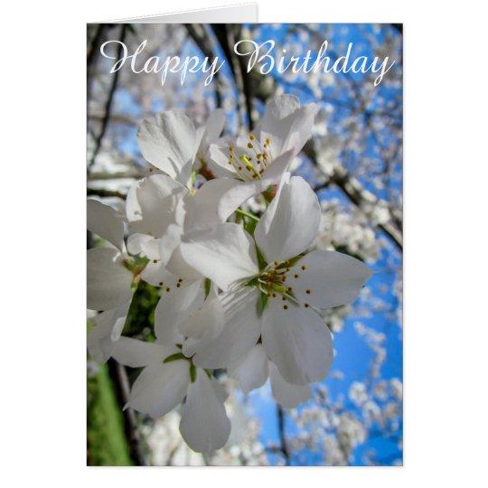Tarjeta de cumpleaños adaptable de las flores de