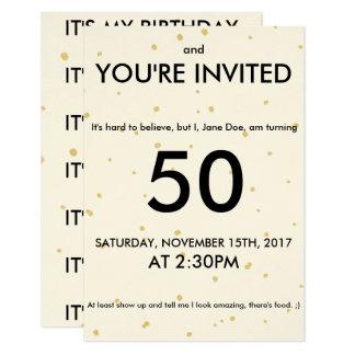 Tarjeta de cumpleaños adulta de la diversión invitación 8,9 x 12,7 cm