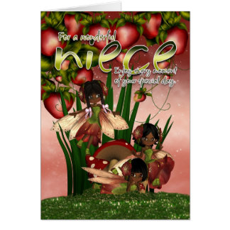 Tarjeta de cumpleaños afroamericana - sobrina - Mo