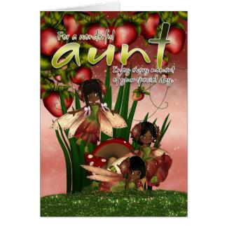 Tarjeta de cumpleaños afroamericana - tía - Cu de