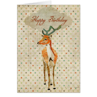 Tarjeta de cumpleaños ambarina del dólar