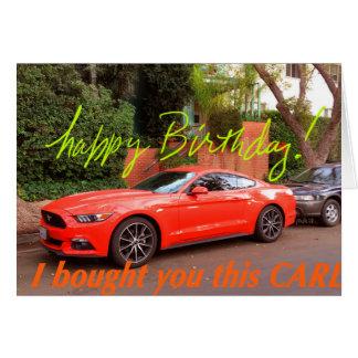 Tarjeta de cumpleaños anaranjada chistosa del