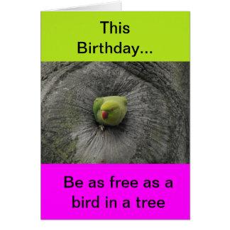 Tarjeta de cumpleaños animal divertida