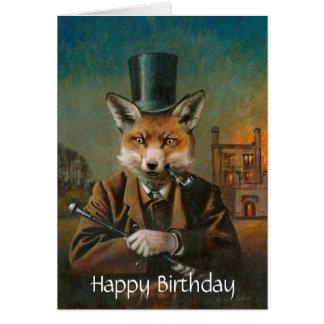Tarjeta de cumpleaños apuesta del Fox
