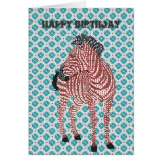 Tarjeta de cumpleaños azul de Zenya