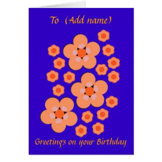 Tarjeta de cumpleaños bonita moderna del diseño