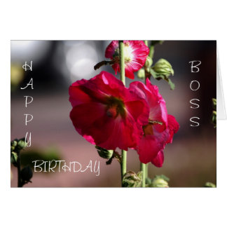 Tarjeta de cumpleaños Boss