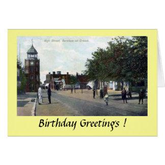 Tarjeta de cumpleaños - Burnham-en-Se agacha,