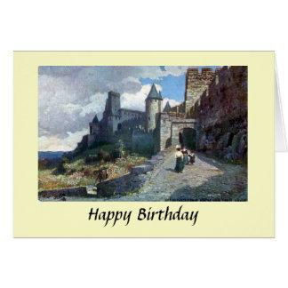 Tarjeta de cumpleaños - Carcasona. Aude, Francia