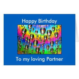 Tarjeta de cumpleaños cariñosa del socio