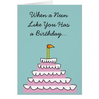 Tarjeta de cumpleaños católica de la diversión de