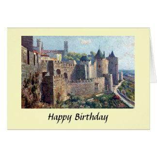 Tarjeta de cumpleaños - Cité de Carcasona, Francia