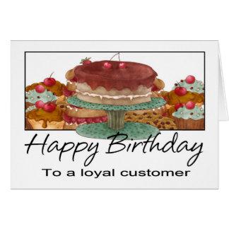 Tarjeta de cumpleaños - cliente - tarjeta de cumpl