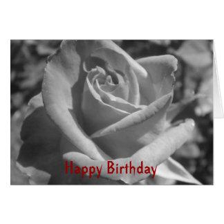 Tarjeta de cumpleaños color de rosa gótica