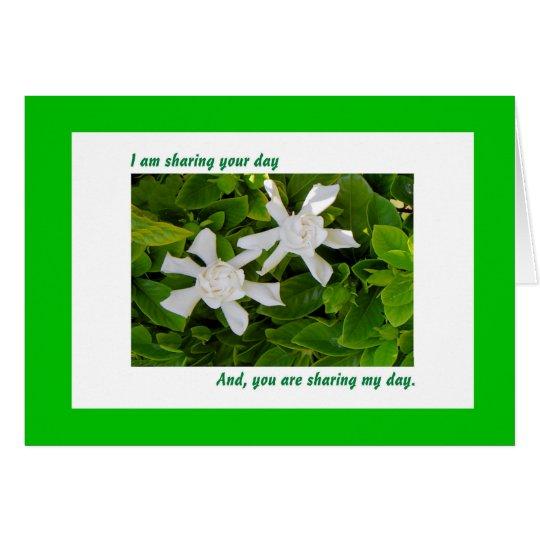 Tarjeta de cumpleaños compartida, Gardenias