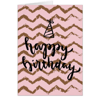Tarjeta de cumpleaños con diseño invertido del