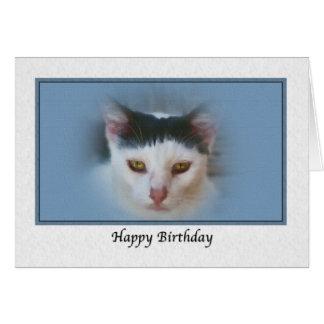 Tarjeta de cumpleaños con el gato