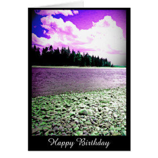 Tarjeta de cumpleaños con la fotografía del río
