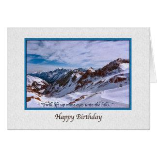 Tarjeta de cumpleaños con las montañas Nevado