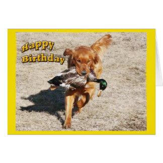 Tarjeta de cumpleaños con un perro