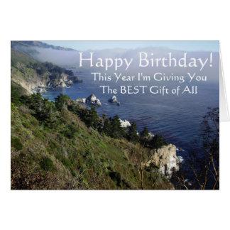 Tarjeta de cumpleaños cristiana del evangelio