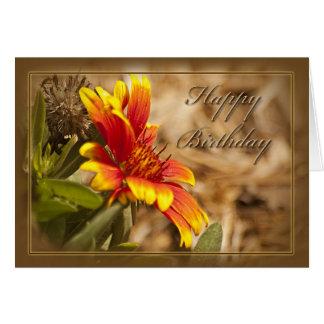 Tarjeta de cumpleaños cristiana floral