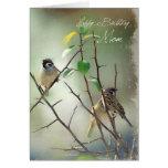 Tarjeta de cumpleaños de 3 pájaros para la mamá