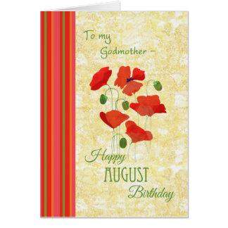 Tarjeta de cumpleaños de agosto para la madrina,