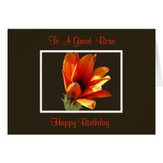 Tarjeta de cumpleaños de Boss