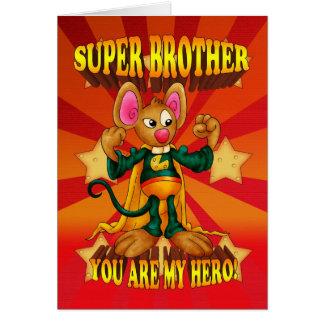 Tarjeta de cumpleaños de Brother - tarjeta