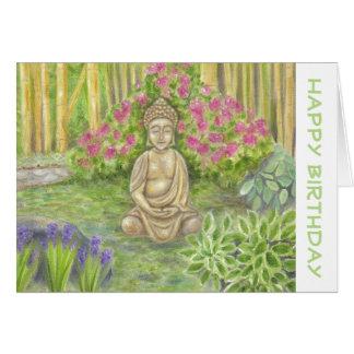 Tarjeta de cumpleaños de Buda