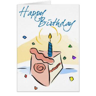Tarjeta de cumpleaños de Childs de la torta de cum