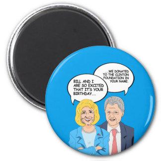 Tarjeta de cumpleaños de Clintons - donamos al Imán