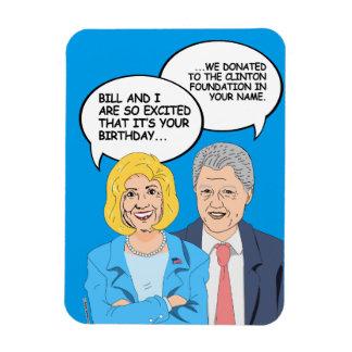 Tarjeta de cumpleaños de Clintons - donamos al Imán Flexible