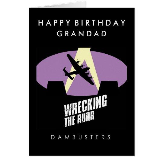 Tarjeta de cumpleaños de Dambuster Lancaster