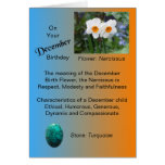 Tarjeta de cumpleaños de diciembre - narciso y tur