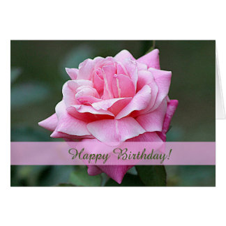 Tarjeta de cumpleaños de encargo color de rosa