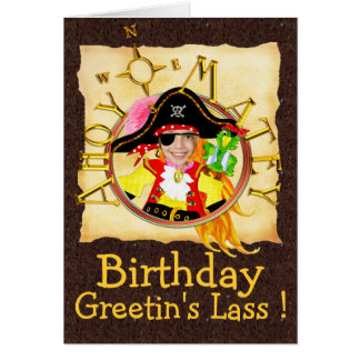 Tarjeta de cumpleaños de encargo de la foto del pi