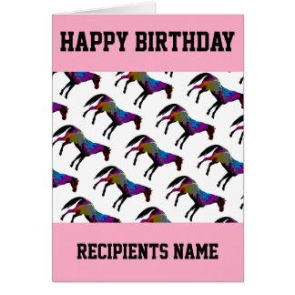 Tarjeta de cumpleaños de encargo del caballo de