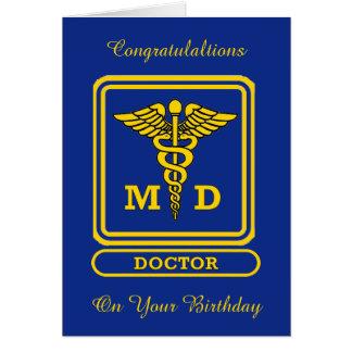 Tarjeta de cumpleaños de encargo del doctor MD